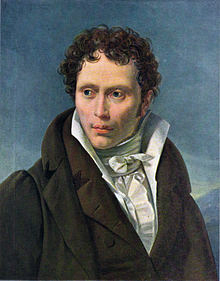 Arthur Schopenhauer ritratto da Ludwig Sigismund Ruhl (1815-1818)