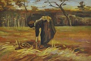 V. van Gogh, Contadina che scava patate