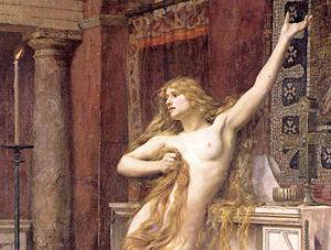 01 Ipazia in un dipinto del 1885 di Charles William Mitchell