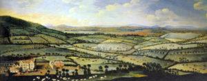 I campi recintati in Inghilterra (enclosures), raffigurati in questo dipinto del Settecento