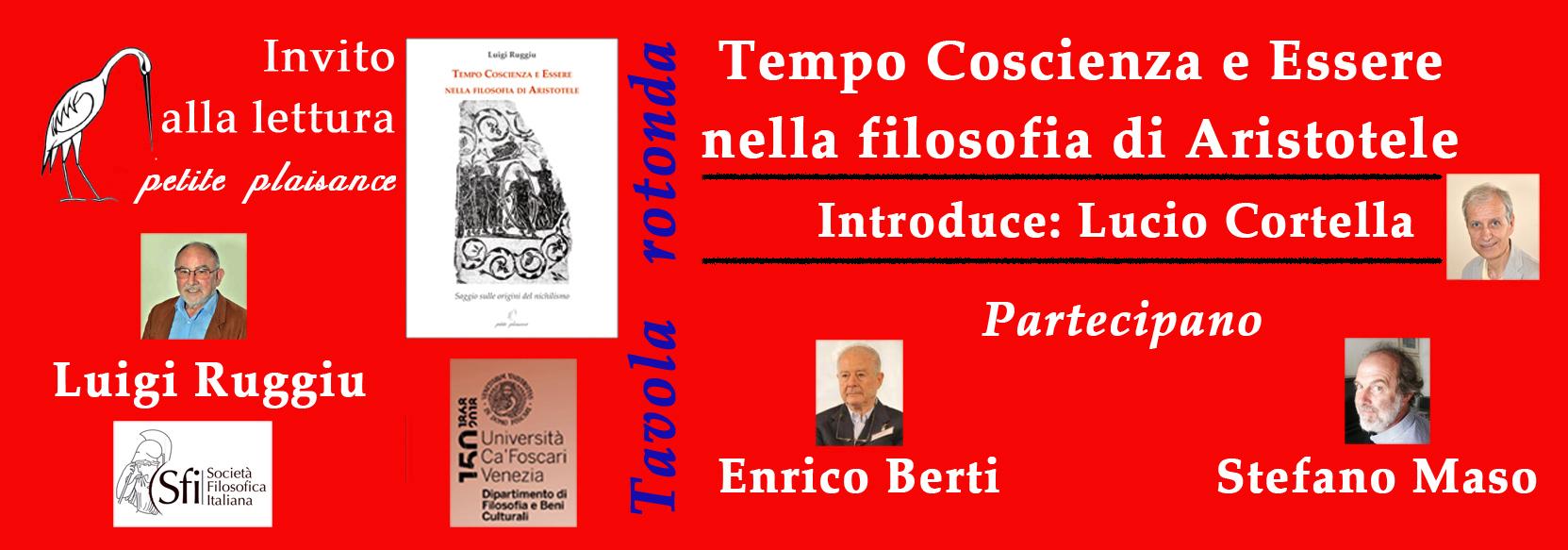Tavola Rotonda Sul Libro Di Luigi Ruggiu Tempo Coscienza E Essere