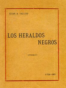 Prima edizione di Los heraldos negros, 1919