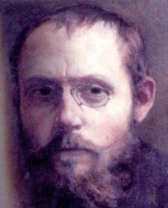 Charles Peguy in un dipinto di Jean-Pierre Laurens