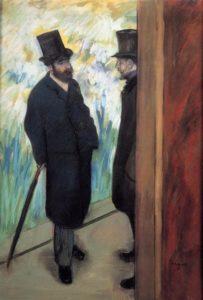 Edgar Degas, Amici del pittore dietro le quinte, 1879