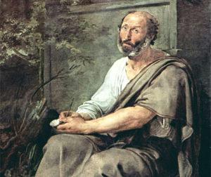 Aristotele, olio su tela di Francesco Hayez, 1811