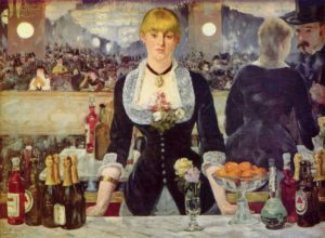 Edouard Manet (1832 – 1883), Bar delle Folies-Bergère, 1881 – 1882, olio su tela (Londra, Courtauld Institute Galleries)