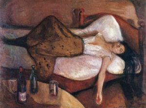 Edvard Munch (1863 – 1944), Il giorno dopo, 1894 – 1895, olio su tela (Oslo, Nasjonalgalleriet)