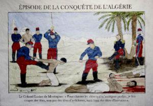 Episodio della conquista francese dell'Algeria in una stampa dell'epoca