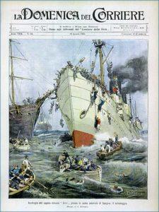 Foto-copertina-articolo-Affondamento-Sirio-19-agosto-1906-copertina-domenica-del-Corriere-di-AchilleBeltrame