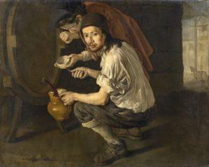 Giacomo Ceruti, detto Pitocchetto (1698-1767), Gli spillatori di vino, olio su tela, 117 x 151 cm. Collezione privata