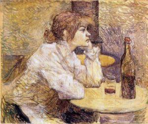 Henri de Toulouse-Lautrec (1864 – 1901), Postumi di sbornia (Suzanne Valadon), 1887 – 1889, olio su tela (Cambridge, MA, Harvard Art Museums, Fogg Art Museums)