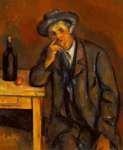 Paul Cézanne (1839-1906), Il bevitore, 1891 olio su tela, The Barnes Foundation (United States)