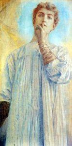 "Fernand Khnopff, ""Il Silenzio"", 1890, Musée d'Art moderne, Bruxelles"