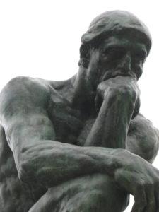 A. Rodin, Il pensatore.