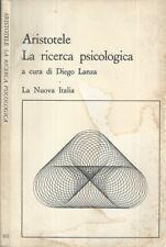 1977 Aristotele, La ricerca psicologica