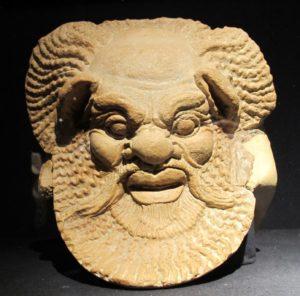 Antefissa a testa di Sileno da Gela, 470-460 a.C. ca., Gela, Museo archeologico Regionale