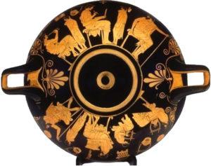 Coppa di Duride, V secolo a.C. Kunsthistorisches Museum, Antikensammlung, Vienna.
