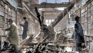 bombardamento-di-londra-la-distruzione-della-biblioteca-di-holland-house
