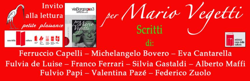 Per Mario Vegetti