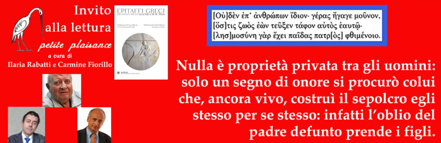Epitaffi greci-Mosino-Guidorizzi-Lelli