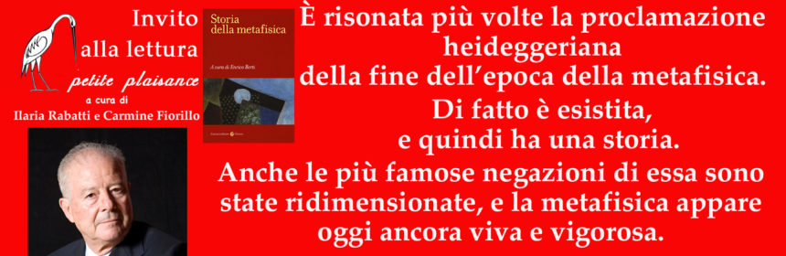 Enrico Berti_Storia della metafisica