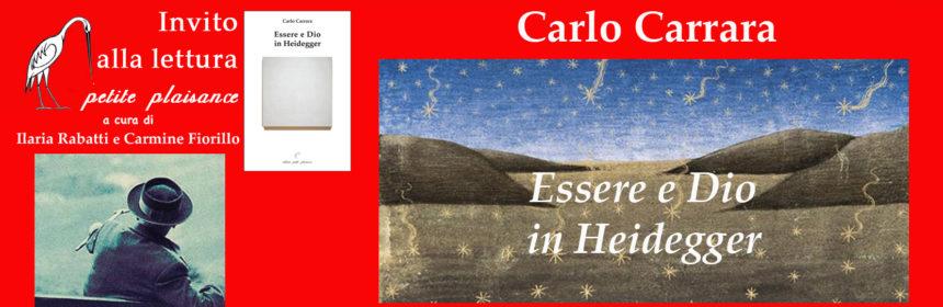 Carlo Carrara Essere e Dio in Heidegger