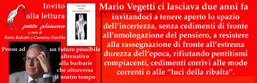 Mario Vegetti a due anani dalla morte