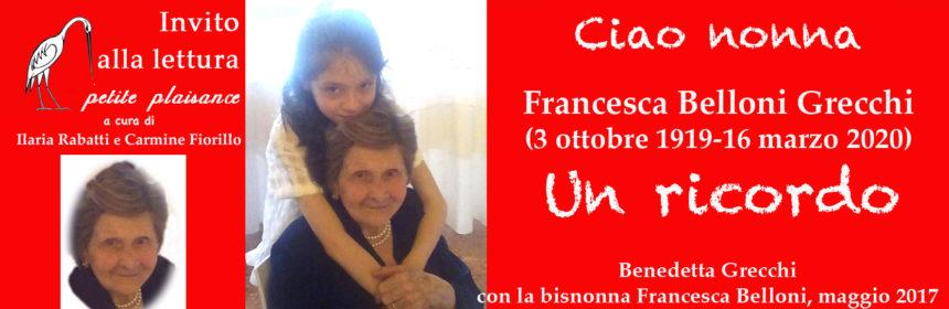 Nonna Francesca Belloni Grecchi