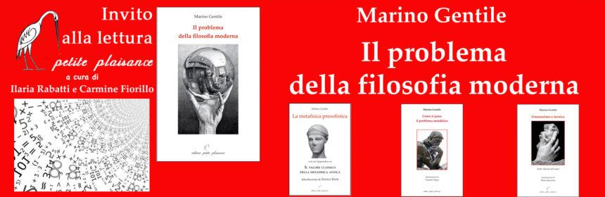 Marino Gentile, Il problema della filosofia moderna