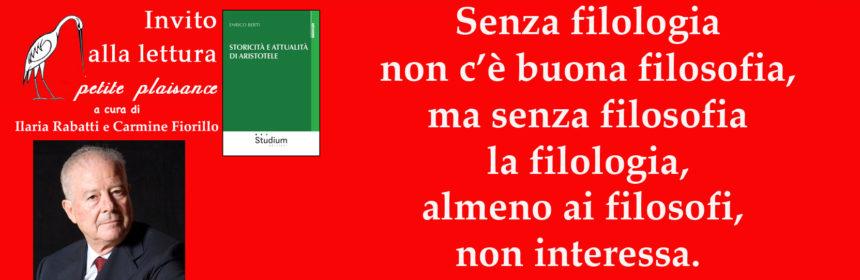 Enrico Berti, filologia - filosofia