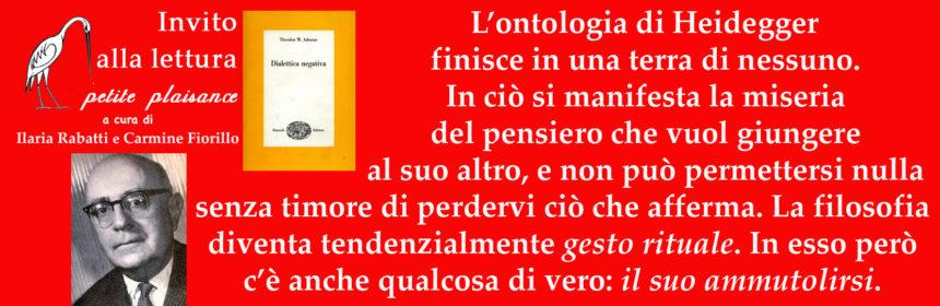 Theodor Ludwig Adorno - Heidegger