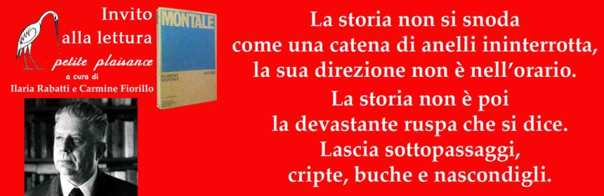 Eugenio Montale, La storia