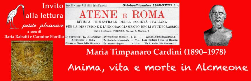 Maria Timèanaro Cardini - Alcmeone - Vegetti