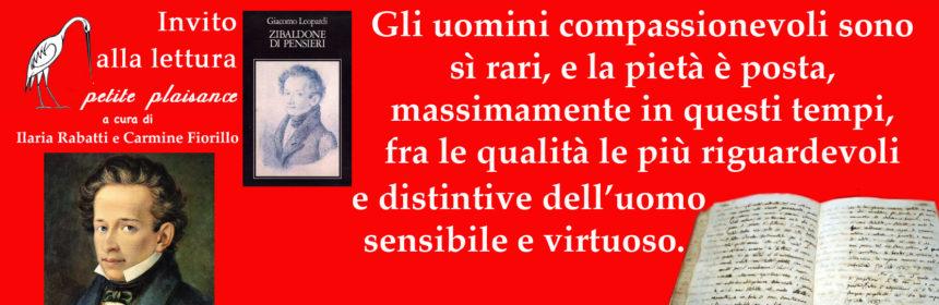 Giacomo Leopardi, compassione