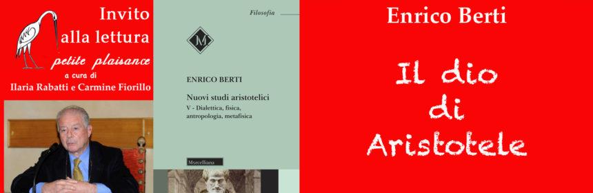 Enrico Berti, Il dio di Aristotele