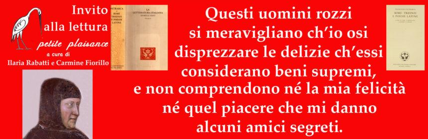 Francesco Petrarca, libri amici