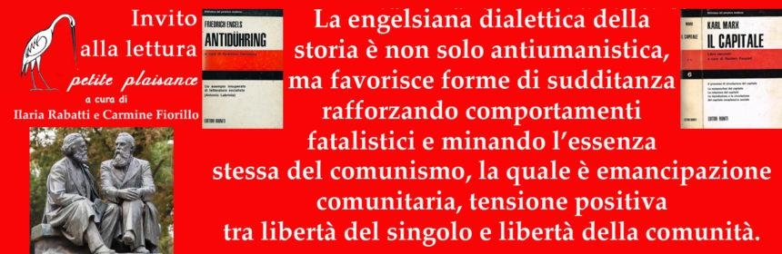 K. Marx- F. Engels dialettica della storia